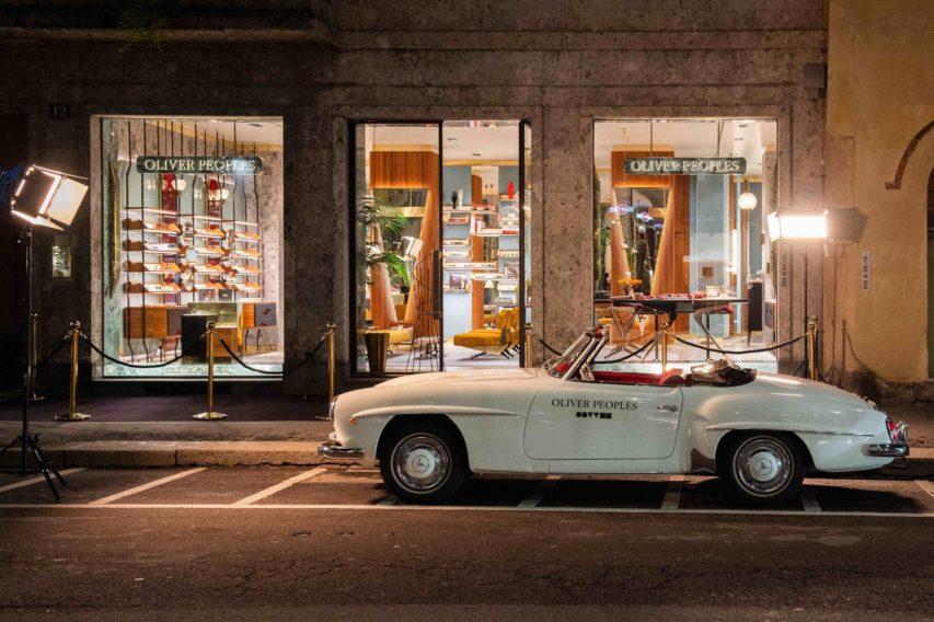 Luxury eyewear brand, OLIVER PEOPLES, opens in Milan